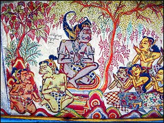 Painting depicting the life of the Buddhist hero Satusoma