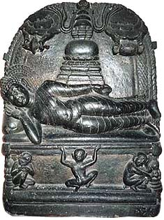 Depiction of the Parinibbana