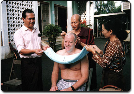 Head shaving for ordination