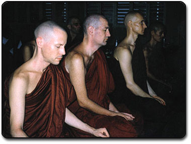Western Monks Meditating