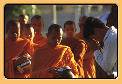Monks on alms-round