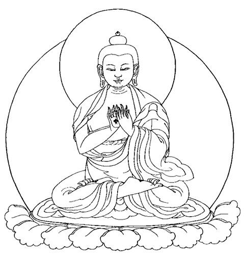 Buddhist Line Art: Sakyamuni Buddha Image 2